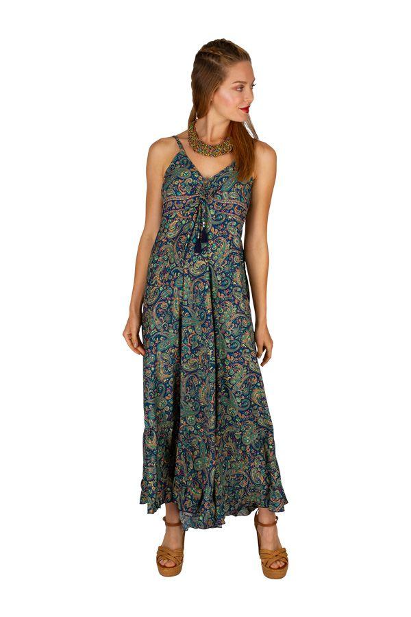 Robe longue décontractée avec un imprimé coloré Gladys 306051