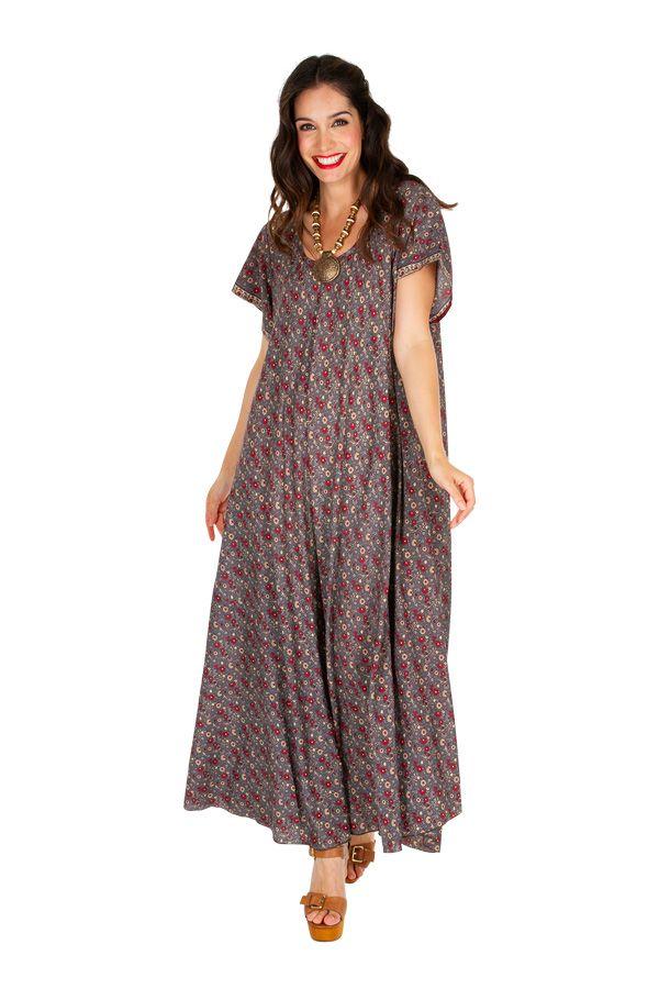 Robe longue décontractée pour un look vintage Sohana 307008