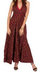 Robe longue élégante en polyester avec imprimés ethniques Darcy 293127