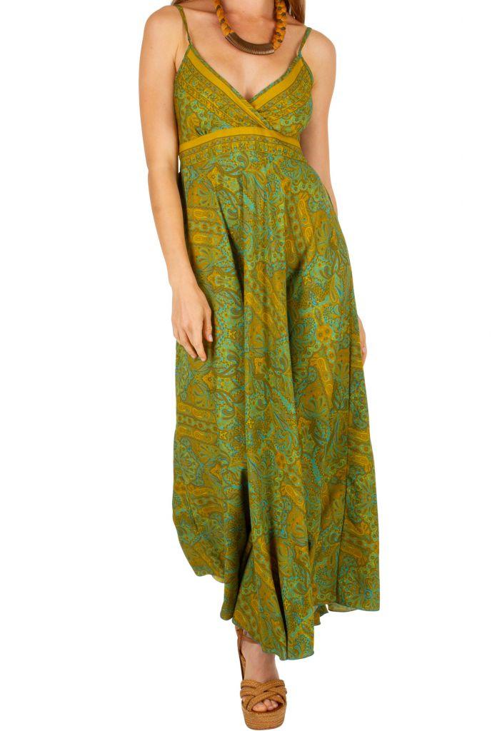 Robe longue élégante style bohème tendance mode de l'été 2019 Alixa 305995