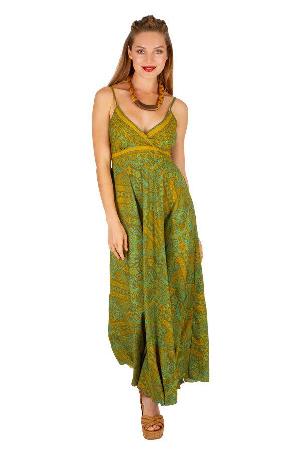 Robe longue élégante style bohème tendance mode de l'été 2019 Alixa 305996