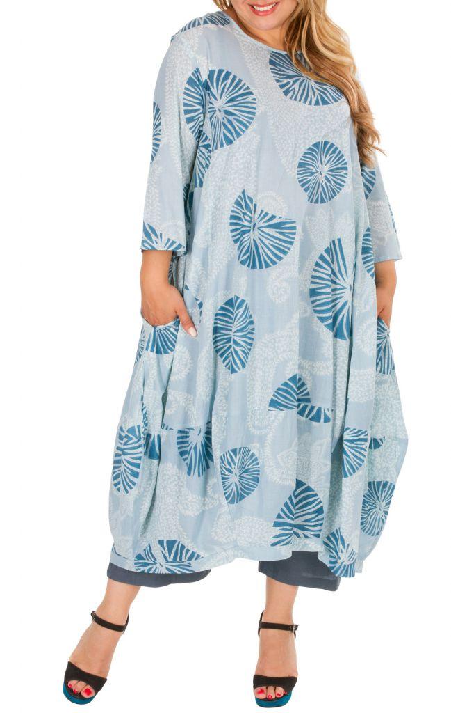 Robe longue en coton léger femme grande taille June 308489