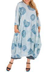 Robe longue en coton léger femme grande taille 308489