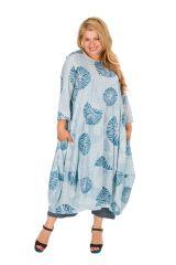 Robe longue en coton léger femme grande taille 308490