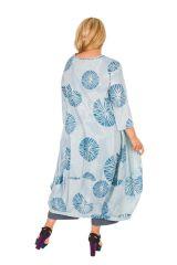 Robe longue en coton léger femme grande taille 308491