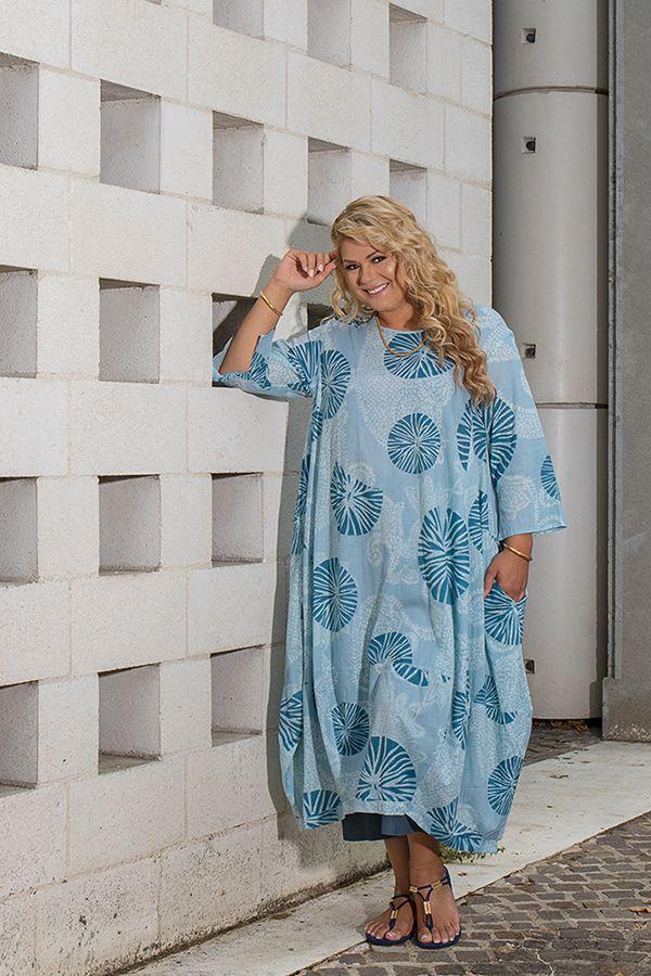 Robe longue en coton léger femme grande taille 308492