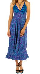 Robe longue estivale au look bohème et ethnique Maya 311484