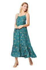 Robe longue et ample à tendance bohème chic imprimé fleurs Romane