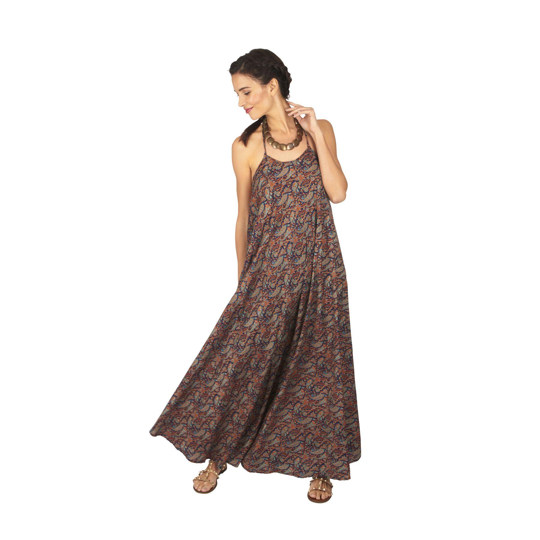 Robe longue et ample femme été à dos nu bohème Karme 317634