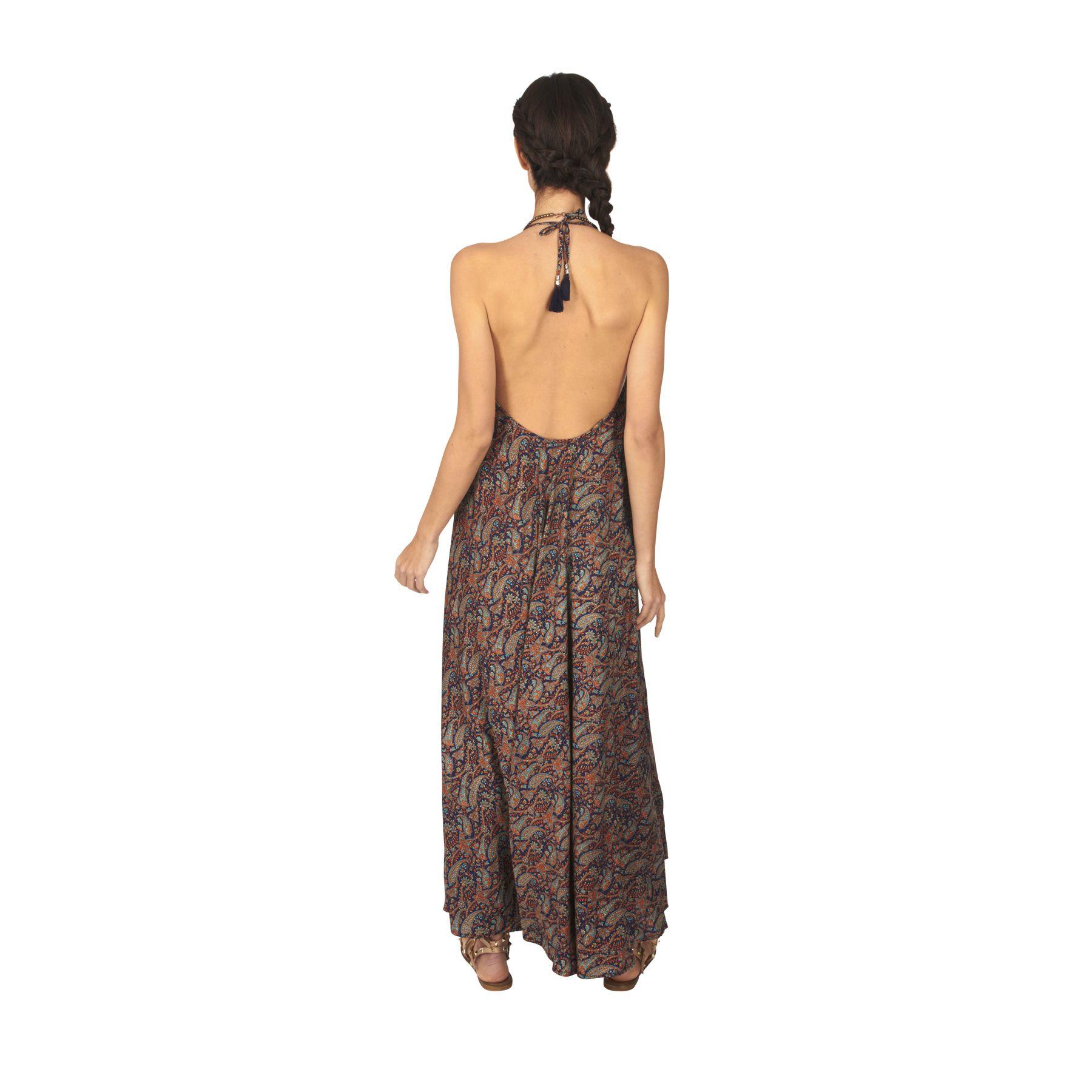 Robe longue et ample femme été à dos nu bohème Karme 317636