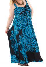 Robe longue et Décolletée Grande taille Jeanet Noire et Bleue 284355