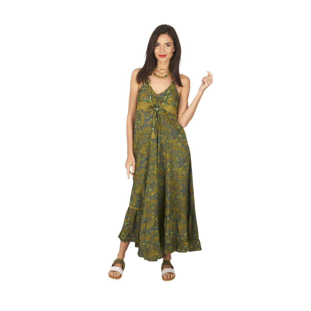 Robe longue été femme ethnique aux imprimés bohèmes Faby 316877