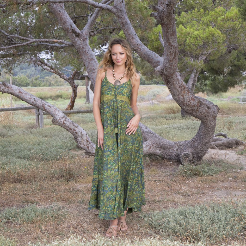 Robe longue été femme ethnique aux imprimés bohèmes Faby 316879