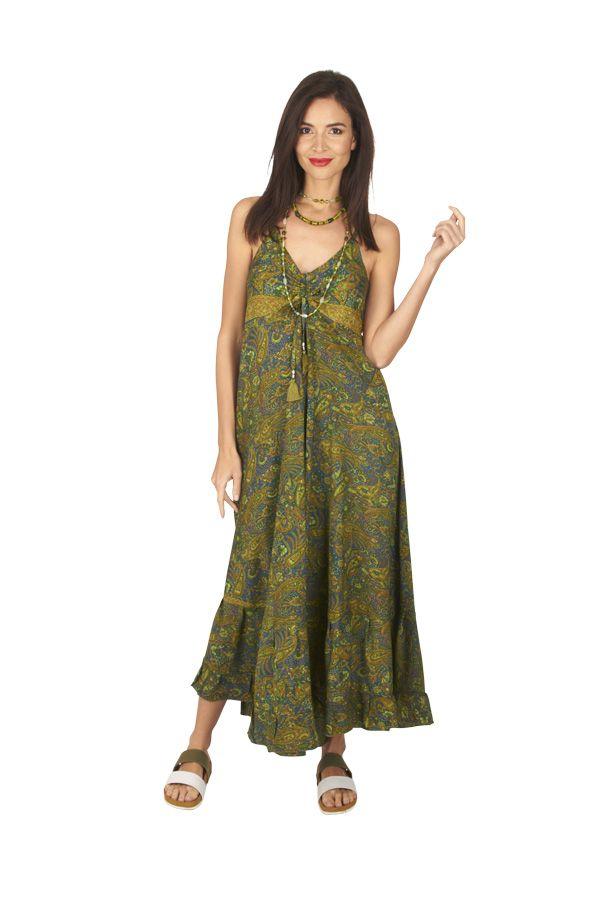 Robe longue été femme ethnique aux imprimés bohèmes Faby 316880