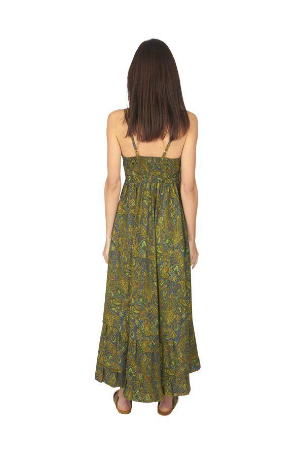 Robe longue été femme ethnique aux imprimés bohèmes Faby 316881