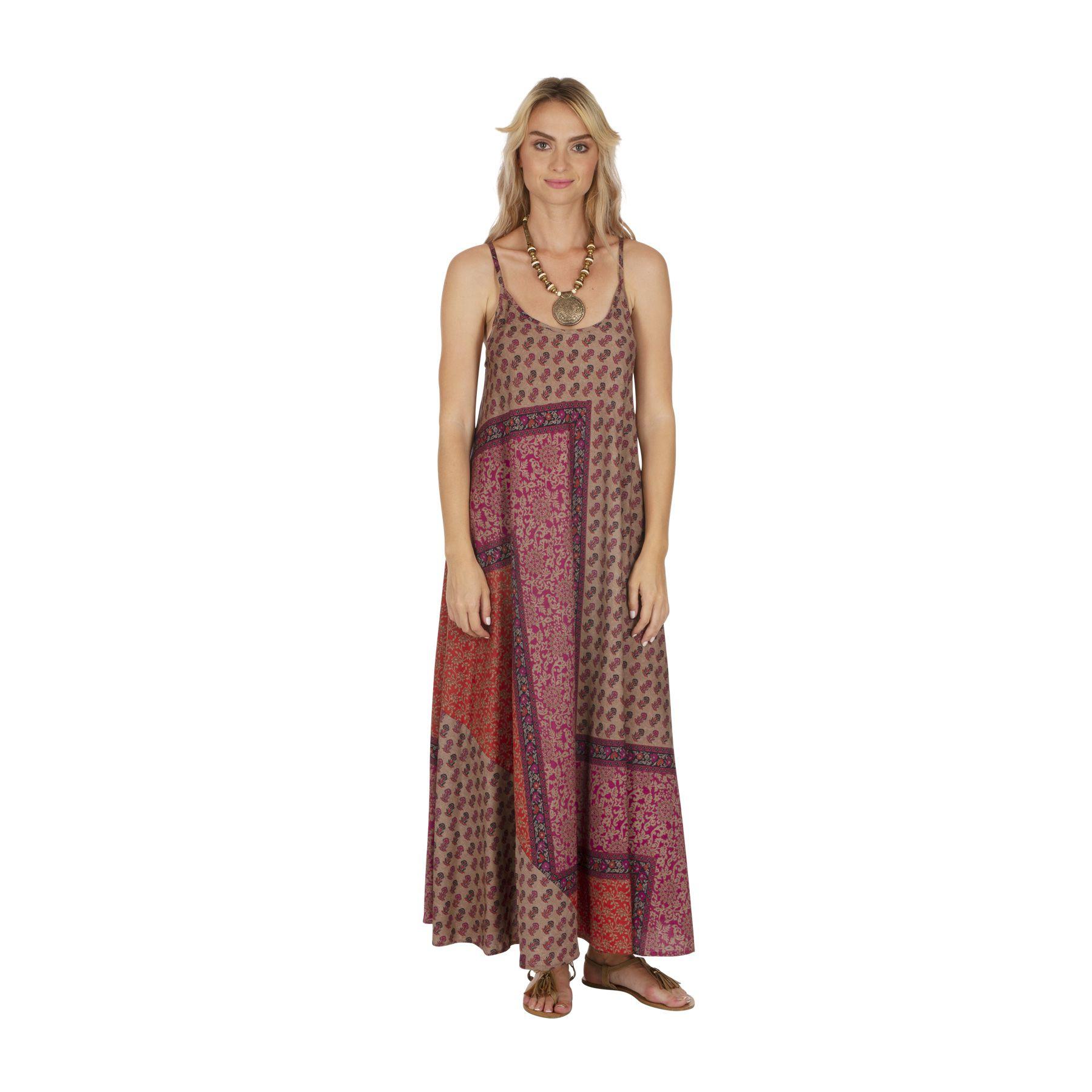 Robe longue été femme fluide à fines bretelles Falevo