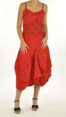 Robe longue ethnique chagha rouge 244415