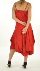 Robe longue ethnique chagha rouge 254595