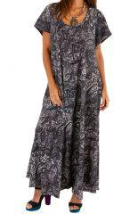 Robe longue ethnique-chic ample et fluide gwaldys 307001