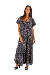 Robe longue ethnique-chic ample et fluide gwaldys 307002