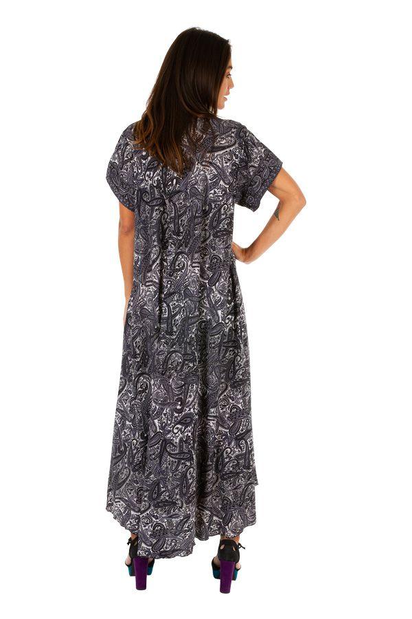 Robe longue ethnique-chic ample et fluide gwaldys 307003