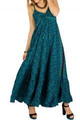 Robe longue ethnique et colorée à fines bretelles Miranda 292746