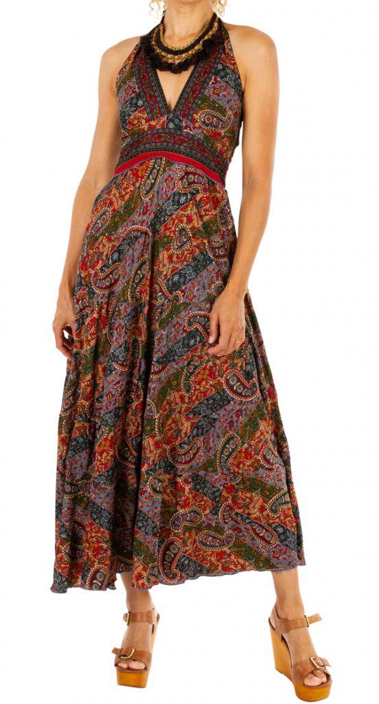 Robe longue ethnique et colorée très féminine Stéphanie 310679