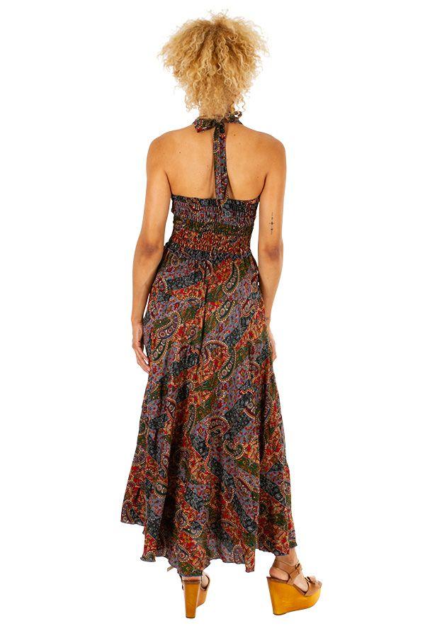 Robe longue ethnique et colorée très féminine Stéphanie 310681