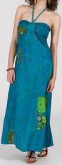 Robe longue ethnique et originale - bleue - Laguna 271892