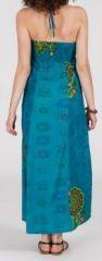 Robe longue ethnique et originale - bleue - Laguna 271893