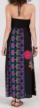 Robe longue ethnique et originale - noire - Damiana 271889