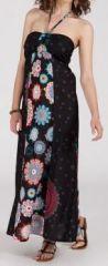 Robe longue ethnique et originale - noire - Doralice 271890