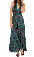 Robe longue ethnique imprimée aux couleurs estivales Sandy 310688