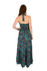 Robe longue ethnique imprimée aux couleurs estivales Sandy 310690