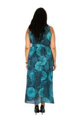 Robe longue ethnique sans manches pour femme ronde Kalia 309782
