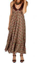 Robe longue ethnique ultra tendance et féminine Flora 311478