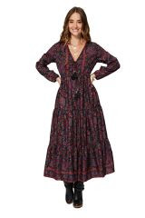 Robe longue évasée femme effet gypsie bohème chic Joselyn
