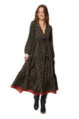 Robe longue évasée femme effet gypsie tendance et chic Tinley