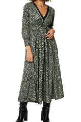 Robe longue évasée pour femme imprimé floral boho Scarlette