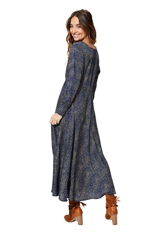Robe longue évasée pour femme imprimé graphique Avalynn