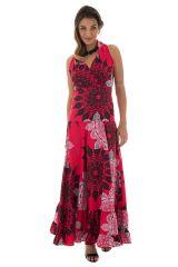 robe longue féminine avec col cache coeur et mandalas Panna 289272