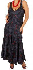 Robe longue féminine grande taille avec un décolleté Sitta 307944