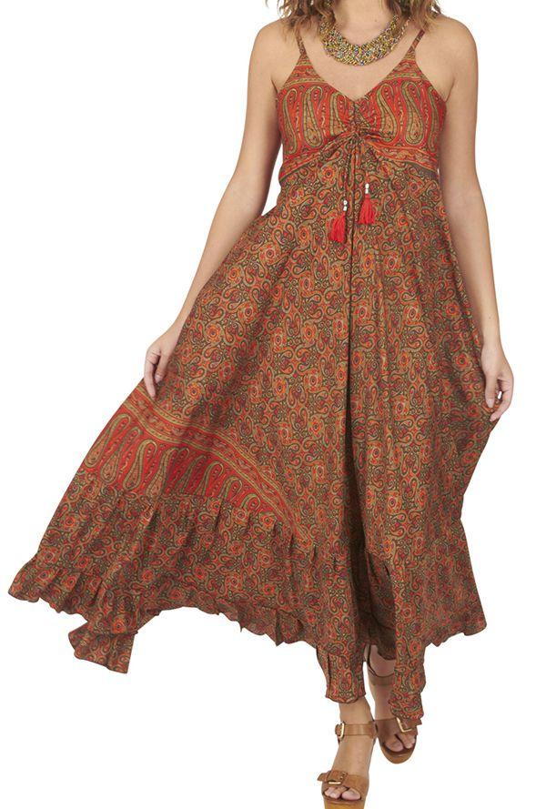 Robe longue femme bohème chic ethnique Lucim