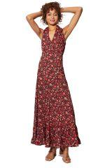 Robe longue femme chic et originale fleurie bohème Océane