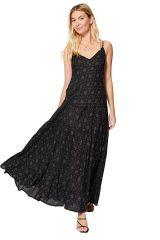 Robe longue femme de soirée pour l\'été tendance chic noire Iliona