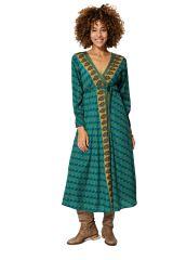 Robe longue femme en portefeuille ethnique chic Hana