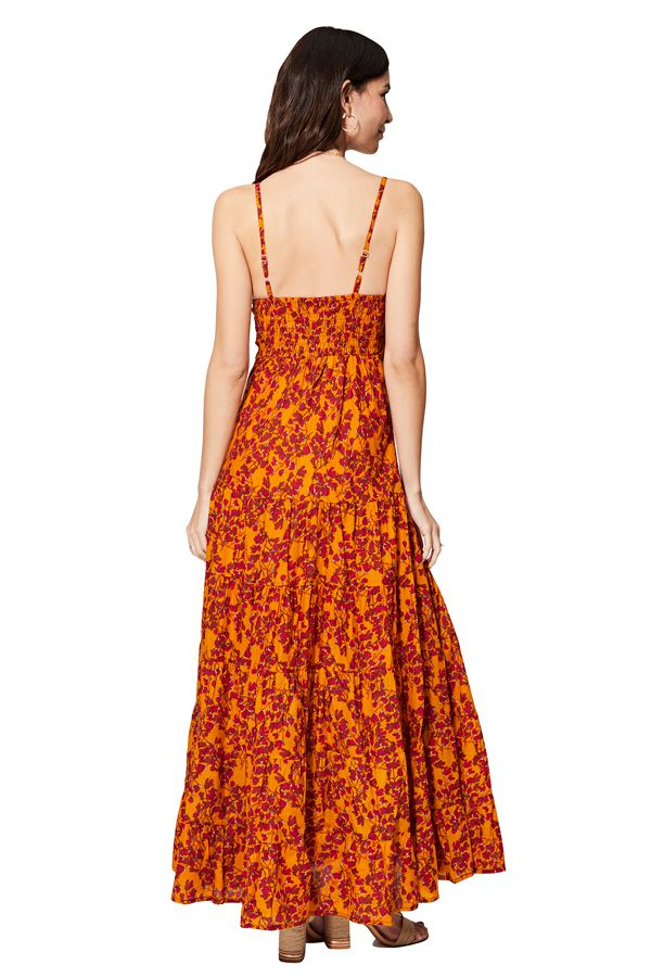 Robe longue femme été bohème chic à fleurs colorées Hope