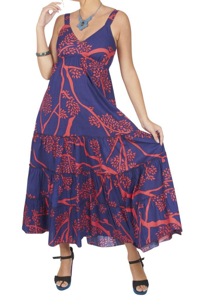 Robe Longue Femme Ete Pas Cher Boheme Ethnique Chic Samantho
