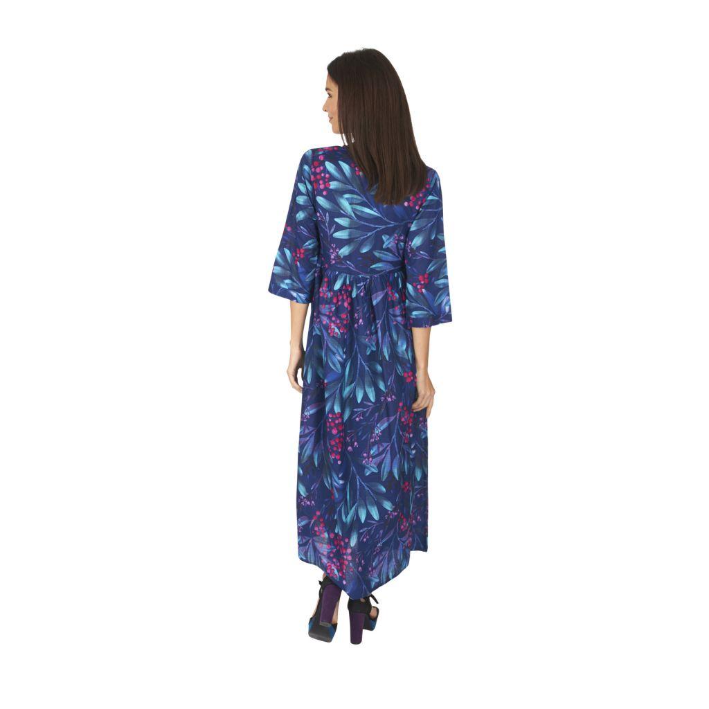 Robe longue femme été en voile de coton fleurie Hélène 315932