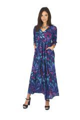 Robe longue femme été en voile de coton fleurie Hélène 315933